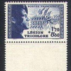 Sellos: FRANCIA 1942 IVERT 565/6 *** LEGIÓN TRICOLOR. Lote 115728127