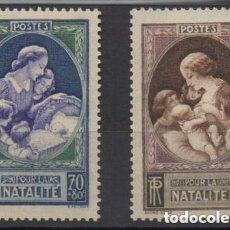 Sellos: FRANCIA 1939 IVERT 440/1 *** PROPAGANDA EN FAVOR DE LA NATALIDAD. Lote 118252471