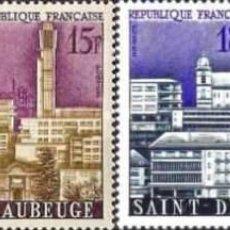 Sellos: FRANCIA - Nº 1152/1155 - AÑO 1958 - CIUDADES RECONSTRUIDAS, ARQUITECTURA - NUEVOS. Lote 119075683