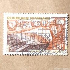Sellos: 2FRA- SELLO FRANCIA USADO - N°1583 BARRAGE DE VOUGLANS, YVERT 1583. Lote 120579052