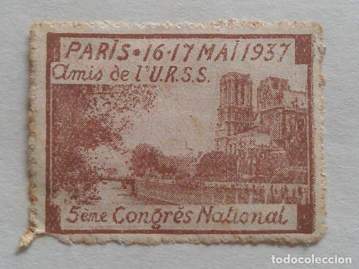 1937 - 5 º CONGRES NACIONAL DE PARÍS - AMIS DE LA URRS (Sellos - Extranjero - Europa - Francia)