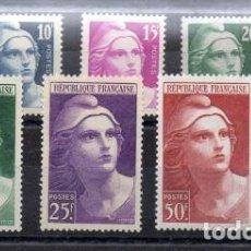 Sellos: FRANCIA - FRANCE YVERT 725/33** MNH VC 47,00€. Lote 120714731