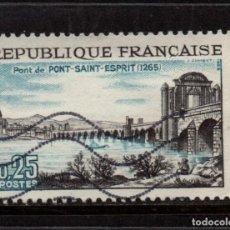 Sellos: FRANCIA 1481 - AÑO 1966 - 7º CENTENARIO DEL PUENTE SAINT ESPRIT. Lote 128544823
