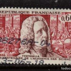 Sellos: FRANCIA 1487 - AÑO 1966 - TRICENTENARIO DE LA ACADEMIA DE CIENCIAS DE PARIS. Lote 128544939