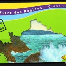 Sellos: FRANCIA.- CARNET DE FLORES DE LAS REGIONES, EN NUEVO. Lote 131724502