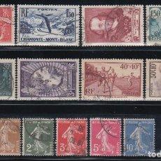 Sellos: FRANCIA, 1936 - 1937 LOTE DE SELLOS USADOS. Lote 133307782