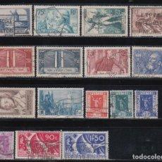 Sellos: FRANCIA, 1936 LOTE DE SELLOS USADOS. Lote 133307822