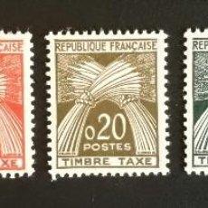 Sellos: FRANCIA 1960** Y&T 90/94 TAXE. Lote 133560258