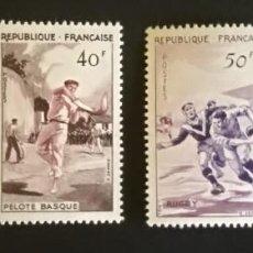Sellos: FRANCIA 1956 Y&T 1072/5 ** DEPORTES. Lote 133839298