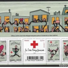 Sellos: FRANCE 2012 - Y&T Nº BF4699 ** - CROIX ROUGE SOUVENIR SHEET MNH. Lote 195309027
