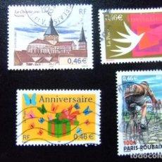 Sellos: FRANCIA FRANCE 2002 TIMBRES SELLOS YVERT 3478 - 3481 FU. Lote 140003794