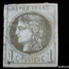 Sellos: SELLO FRANCES, CERES DE BORDEAUX 1 CENTIMES. AÑO 1870. Lote 140026842