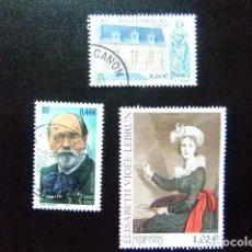 Sellos: FRANCIA FRANCE 2002 TIMBRES SELLOS YVERT 3524 - 3526 FU. Lote 140051142