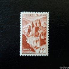 Sellos: FRANCIA. YVERT 792. SERIE COMPLETA NUEVA SIN CHARNELA. ABADÍA DE CONQUES. 1947.. Lote 143045346