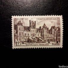 Selos: FRANCIA. YVERT 878. SERIE COMPLETA NUEVA SIN CHARNELA. 1951. CASTILLO DE FONTAINEBLEAU.. Lote 143503329