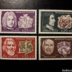 Sellos: FRANCIA. YVERT 1550/3. SERIE COMPLETA NUEVA SIN CHARNELA. 1968. PERSONAJES.. Lote 143553053