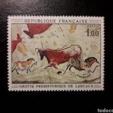 Sellos: FRANCIA. YVERT 1555. SERIE COMPLETA NUEVA SIN CHARNELA. 1968. PINTURAS RUPESTRES.. Lote 143553108