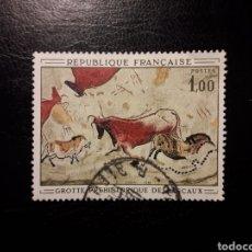 Sellos: FRANCIA. YVERT 1555. SERIE COMPLETA USADA. 1968. PINTURAS RUPESTRES.. Lote 143553112