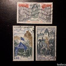 Sellos: FRANCIA. YVERT 1577/9. SERIE COMPLETA USADA. 1968. HISTORIA DE FRANCIA. JUANA DE ARCO. Lote 143553246