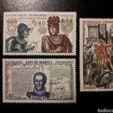 Sellos: FRANCIA. YVERT 1616/8. SERIE COMPLETA NUEVA SIN CHARNELA. 1969. HISTORIA DE FRANCIA. ENRIQUE IV. Lote 143553380