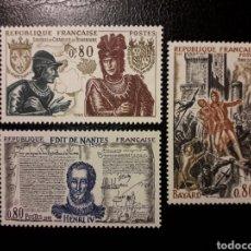 Sellos: FRANCIA. YVERT 1616/8. SERIE COMPLETA NUEVA SIN CHARNELA. 1969. HISTORIA DE FRANCIA EDICTO DE NANTES. Lote 143553433