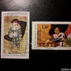 Sellos: FRANCIA. YVERT 1840/1. SERIE COMPLETA USADA. 1975. EUROPA CEPT. PINTURAS. PICASSO. VAN DONGEN. Lote 143554273