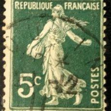 Sellos: FRANCIA. 1907, ALEGORÍA DE LA AGRICULTURA. 5 C. VERDE (Nº 137 YVERT).. Lote 144580858