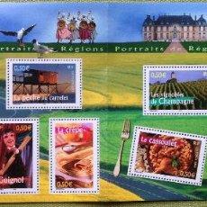 Sellos: FRANCIA FRANCE 2003 MINISHEET REGIONES RÉGIONS. Lote 144595034