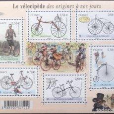 Sellos: FRANCIA FRANCE 2011 MINISHEET BICICLETAS VÉLOCIPÈDE. Lote 144595098
