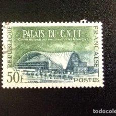 Sellos: FRANCIA 1959 PALAIS DU CNIT YVERT 1206 FU. Lote 180993406