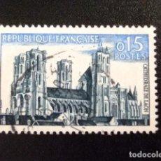 Sellos: FRANCIA 1960 SÉRIE TOURISTIQUE CATHÉDRALE DE LAON YVERT 1235 FU. Lote 145064830