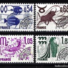 Sellos: FRANCIA 1977 YVERT Nº 146/149 PREOBLITERADOS MNH** NUEVOS - ZODIACO. Lote 146102838