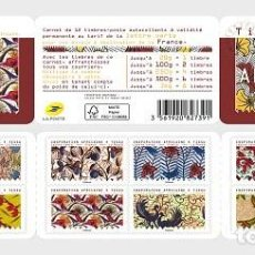 Sellos: FRANCE 2019 - AFRICAN INSPIRATION - FABRIC - STAMP BOOKLET MNH. Lote 147654553
