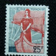 Sellos: SELLO POSTE REPUBLICA FRANCESA, 25 FR,.1960, NUEVO. Lote 146290710