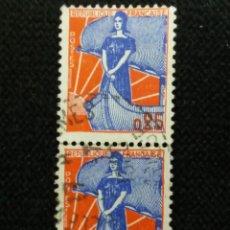 Sellos: SELLO POSTE REPUBLICA FRANCESA, 0,25 CENT,.1960, USADO. Lote 146291398