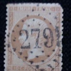 Sellos: SELLO POSTE REPUBLICA FRANCESA, 10 CENT, NAPOLEON III.1886, USADO. Lote 146292206