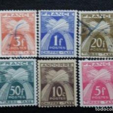 Sellos: 6 SELLOS POSTE REPUBLICA FRANCESA, FR..1960, NUEVO. Lote 146296662