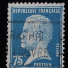 Sellos: SELLO POSTE REPUBLICA FRANCES, 75 CENT, PASTEUR 1923. USADO. Lote 146434310