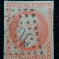 Sellos: SELLO POSTE REPUBLICA FRANCES, 40 CENT, NAPOLEON III,1866 USADO. Lote 146436678