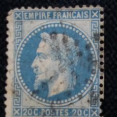 Sellos: SELLO POSTE REPUBLICA FRANCES, 20 CENT, NAPOLEON III,1862 USADO. Lote 146437282