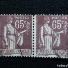 Sellos: SELLOS POSTE REPUBLICA FRANCES, 65 CENT RAMA OLIVO 1932 USADO. Lote 146572190