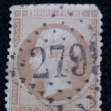 Sellos: SELLO POSTE REPUBLICA FRANCES, 40 CENT, NAPOLEON III,1876 USADO. Lote 146577306