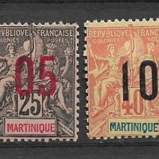 Sellos: MARTINIQUE 1912 SC 101-104 (4) MH Y USED - 10/19. Lote 147234006