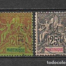 Sellos: MARTINIQUE 1892 SC 42-43 USED - 10/19. Lote 147234278
