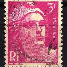 Sellos: FRANCIA 1948 YVERT Nº 806 USADO CON CHARNELA - MARIANNE GANDON. Lote 147654210