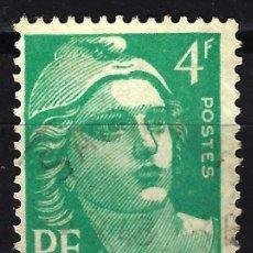 Sellos: FRANCIA 1948 YVERT Nº 807 USADO CON CHARNELA - MARIANNE GANDON. Lote 147654282