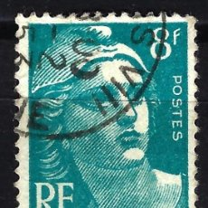 Sellos: FRANCIA 1948 YVERT Nº 810 USADO CON CHARNELA - MARIANNE GANDON. Lote 147654350