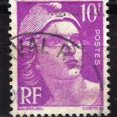 Sellos: FRANCIA 1948 YVERT Nº 811 USADO CON CHARNELA - MARIANNE GANDON. Lote 147654406