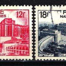 Sellos: FRANCIA 1948 YVERT Nº 818/819 USADOS CON CHARNELA - PALAIS DE CHAILLOT - NATIONS UNIES. Lote 147654906