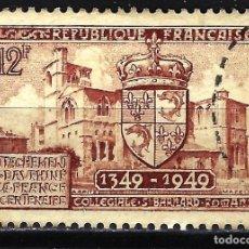 Sellos: FRANCIA 1949 YVERT Nº 839 USADO CON CHARNELA - CENTENARIO DAUPHINE. Lote 147656742